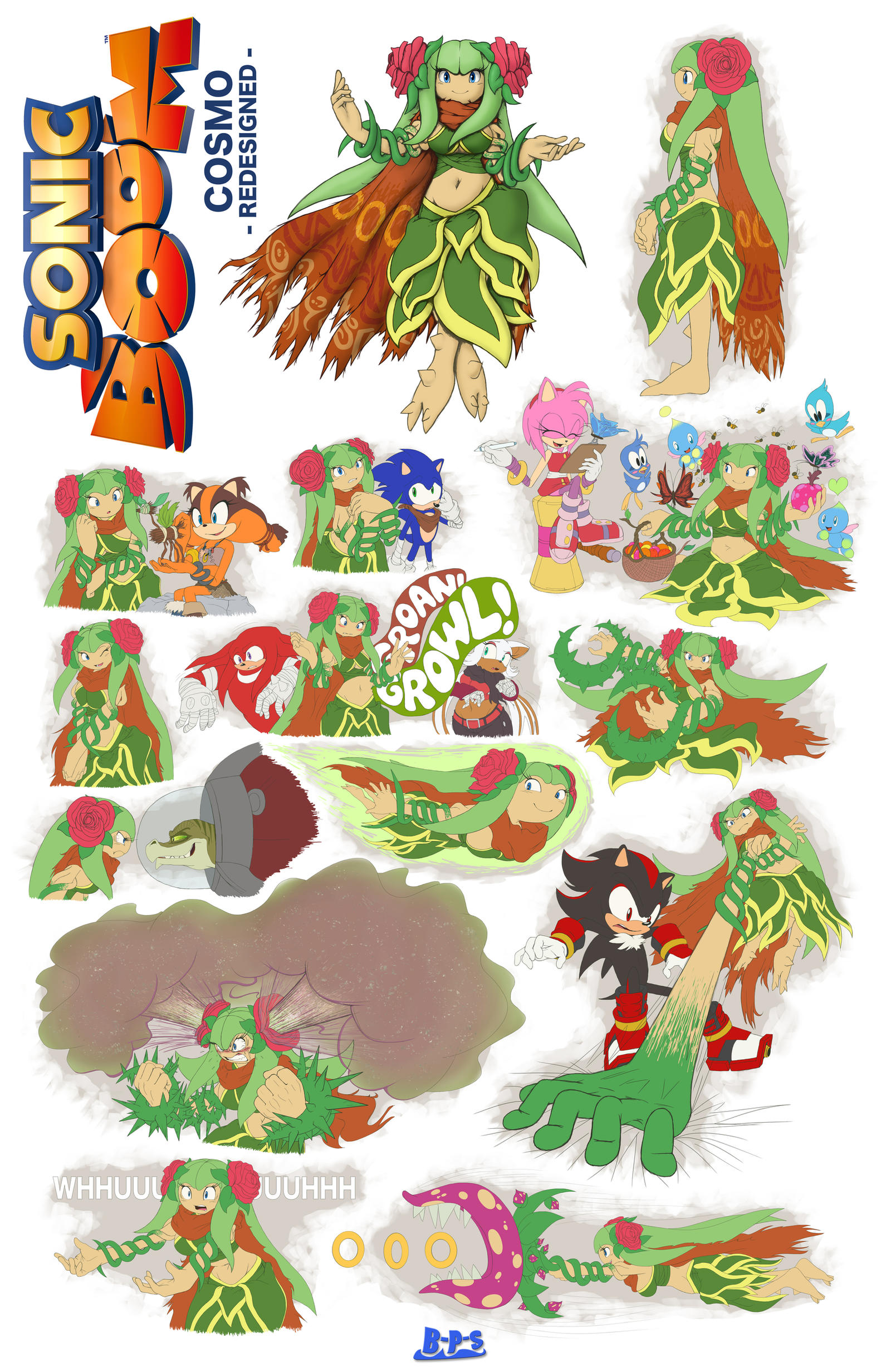 Sonic Boom Character What Ifs Cosmo By Blue Paint Sea On Deviantart