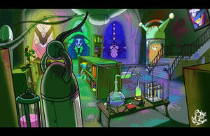 Commission - Dr Crafty Lab Interior Background by Blue-Paint-Sea