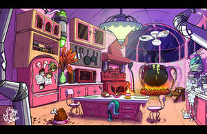 Commission - Dr Crafty Kitchen Interior Background by Blue-Paint-Sea