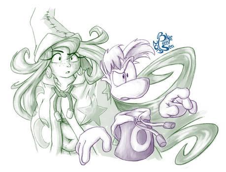 Rayman and Betilla Sketch