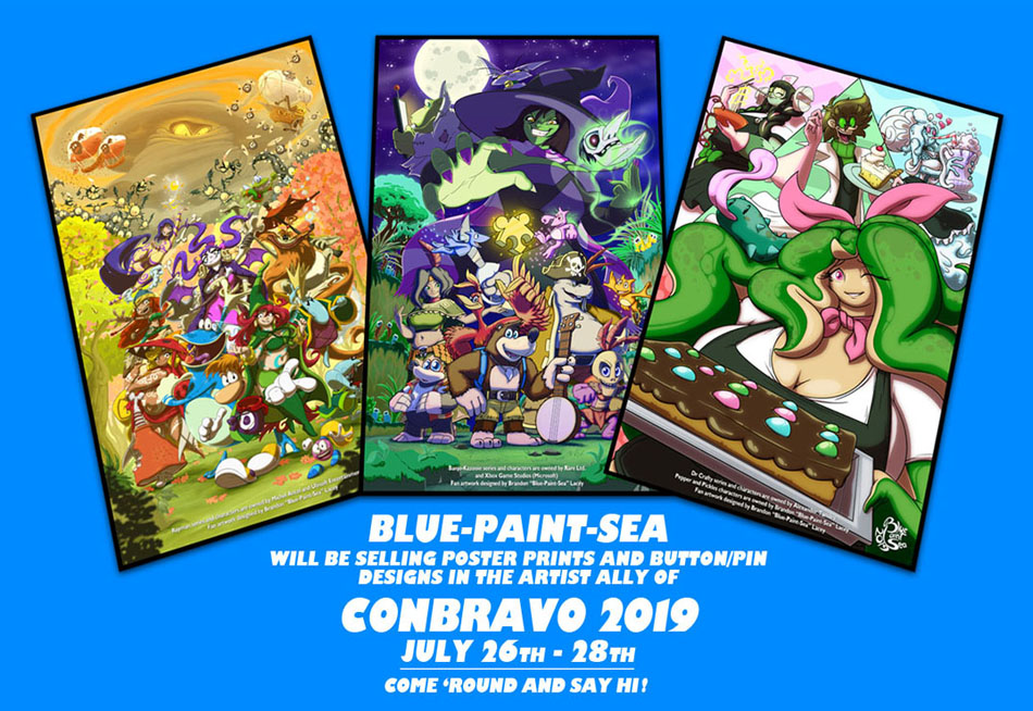 Conbravo2019 Art Table Preview by Blue-Paint-Sea