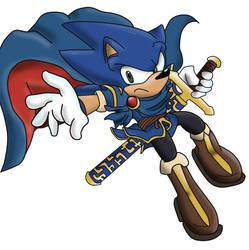 Super smash bros: Sonic/Marth by DredgeTH