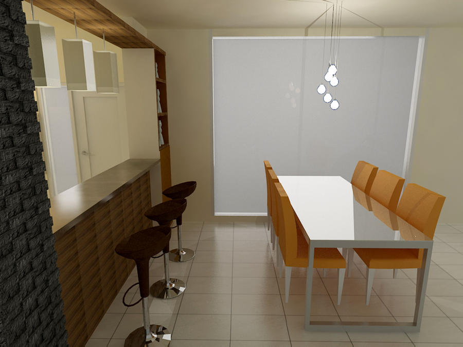 Kitchen n Dining Room - view 2