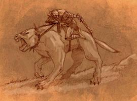 Warg rider by Endyamar