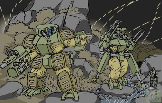 Teddy main tactical mech and AA variant