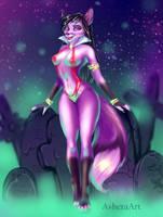 Yully as Vampirella by AsheraArt