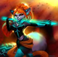 Shadow fox by AsheraArt