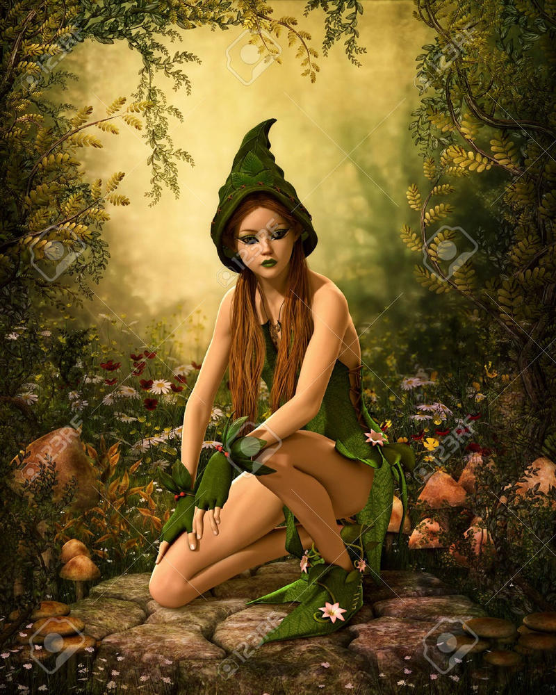 Images green elf girl in green dress  nude movies