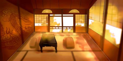 Oriental room by DrawingInterest