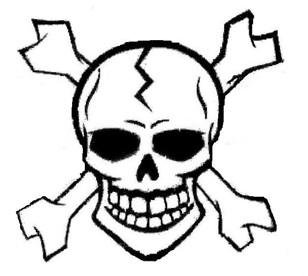 Skull and Crossbones by SomeDarkPerson