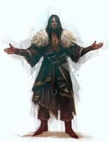 Sketch#021 The Preacher by lordbaells