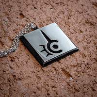 Final Fantasy XIV Red Mage silver pendant by KristoLiiva