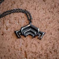 Warframe Lotus silver pendant by KristoLiiva