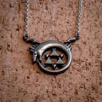 Full Metal Alchemist Ouroboros Homunculus pendant by KristoLiiva