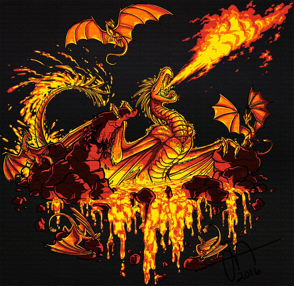 Urealms Live T-shirt: Vlaurunga's Den of Devils by Pandas-R-Us