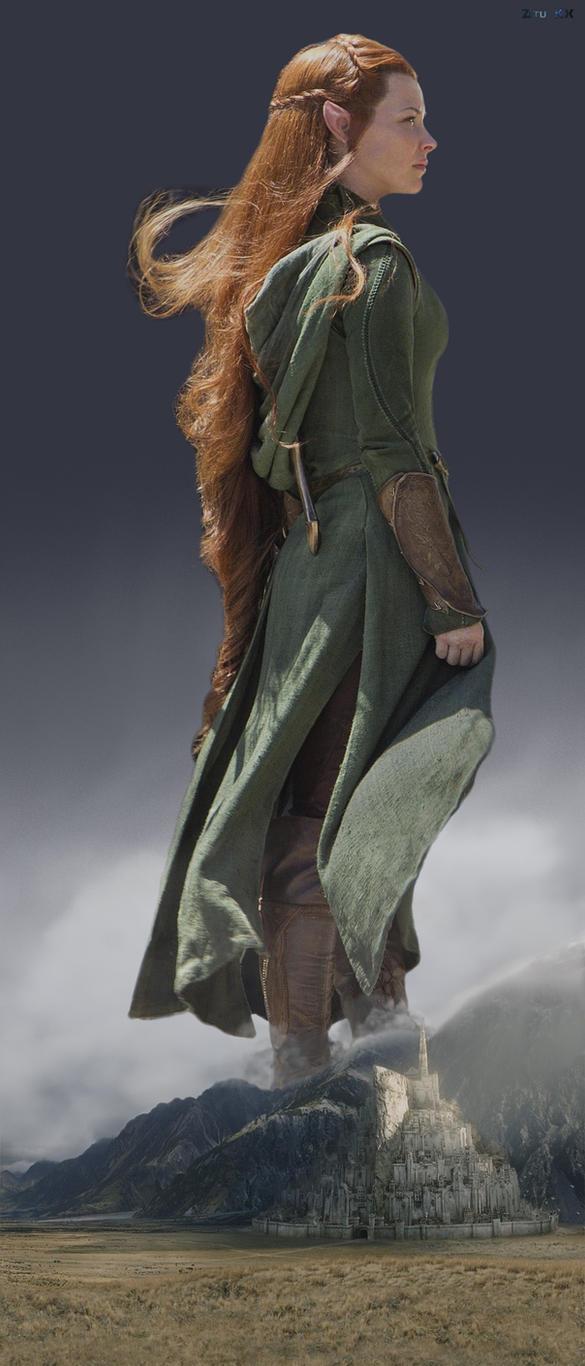 Mega Tauriel (Evangeline Lilly) by ZituKX
