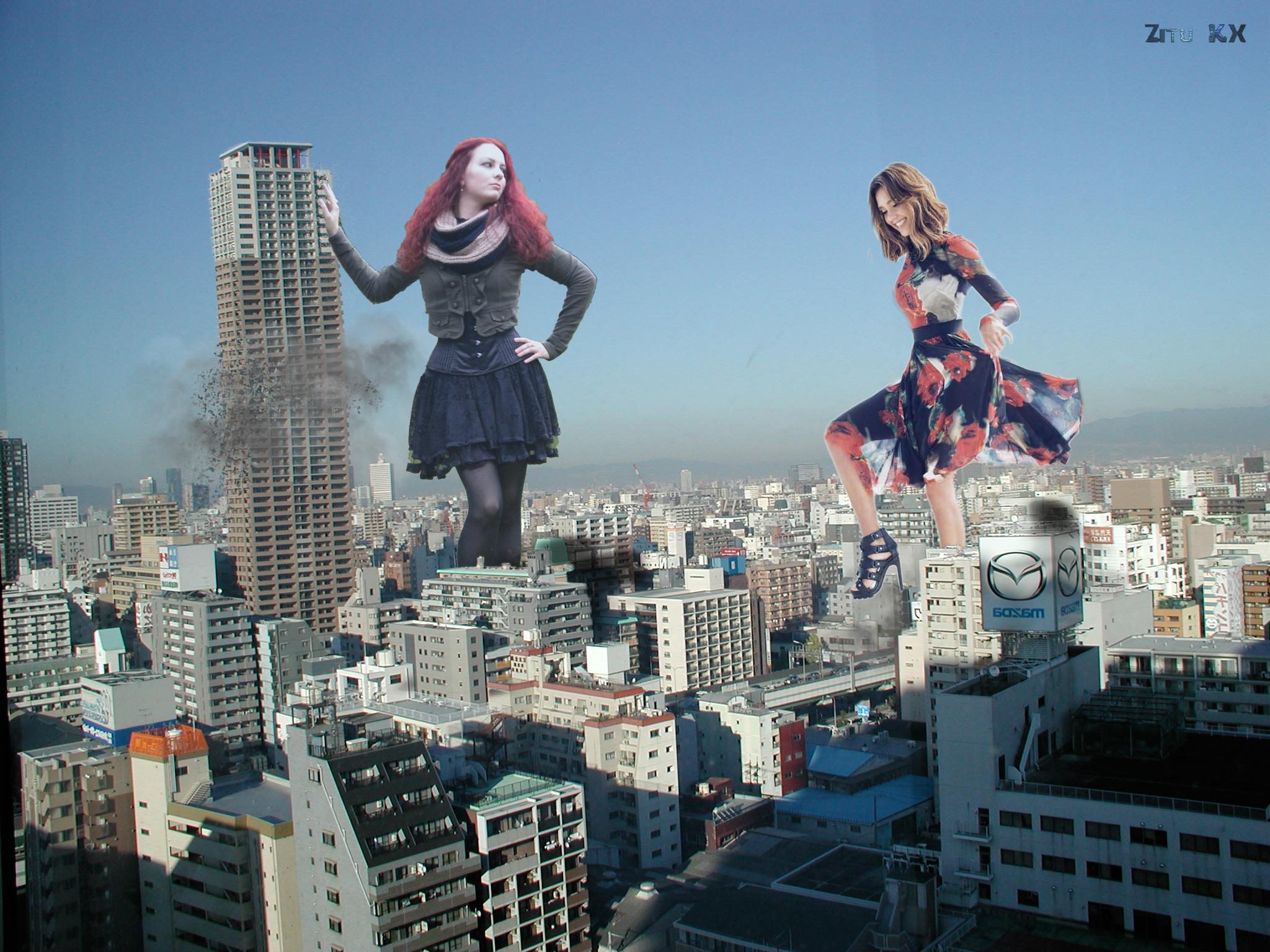 Mega Amarie Tinuviel and Jessica Alba by ZituKX
