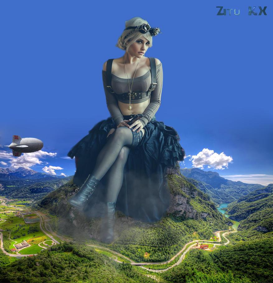 Steampunk giantess by ZituKX