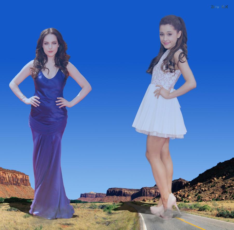 Growth fight: Ariana vs Elizabeth 1 by ZituKX