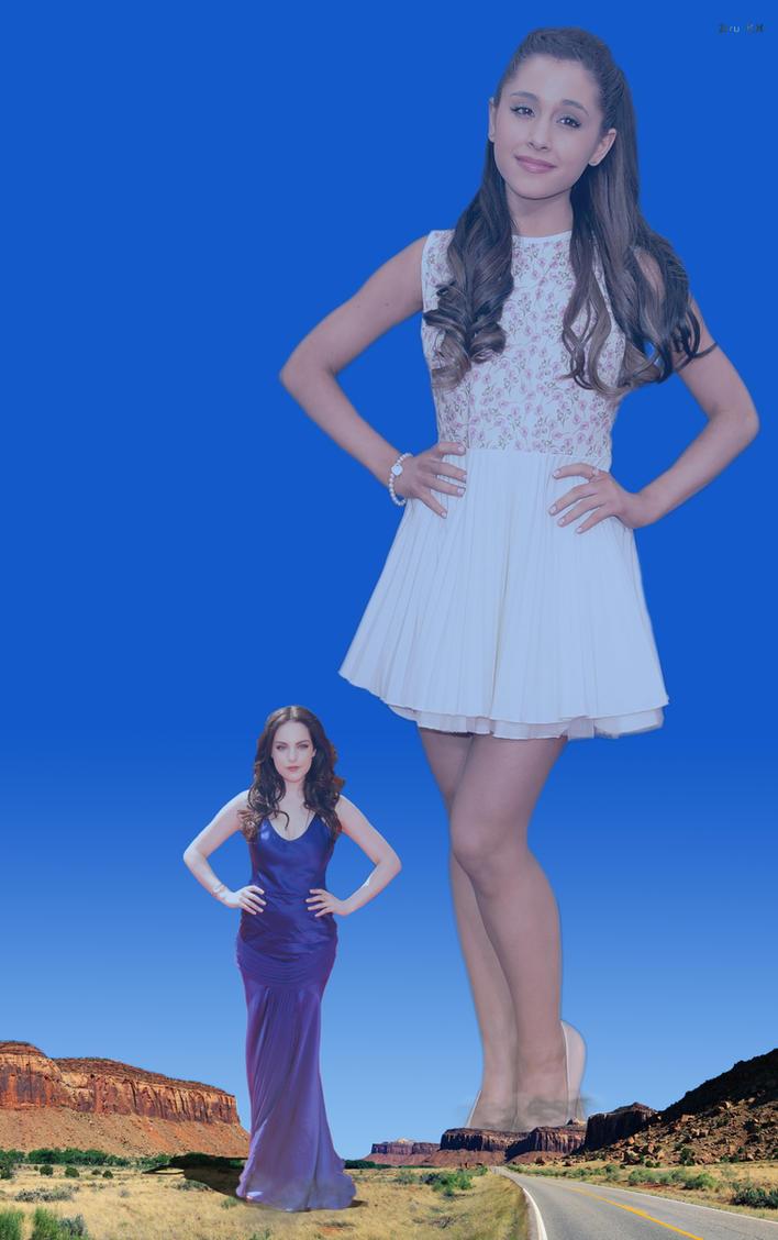 Growth fight: Ariana vs Elizabeth 2 by ZituKX