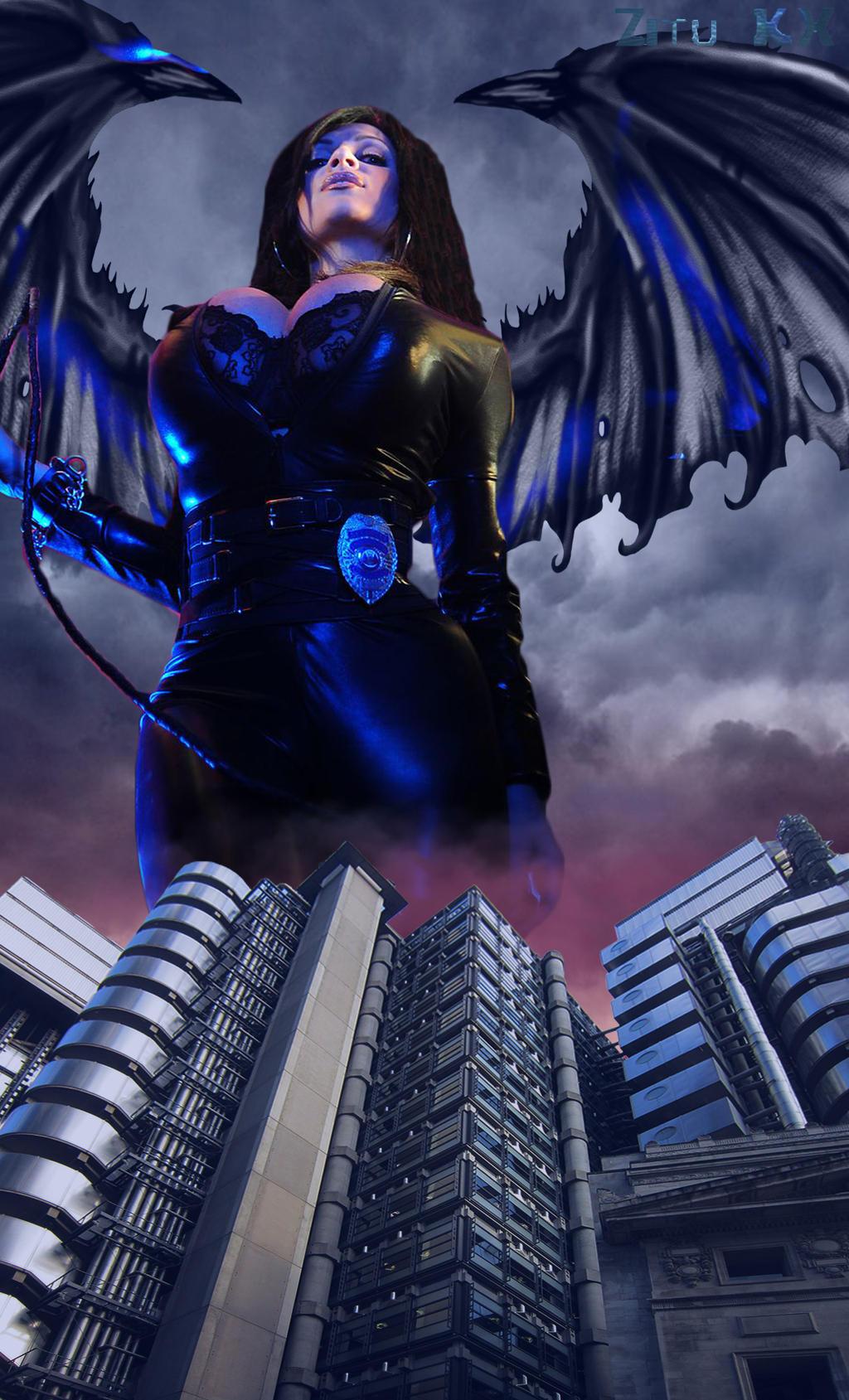 Giant demonic dominatrix (Denise Milani) by ZituKX