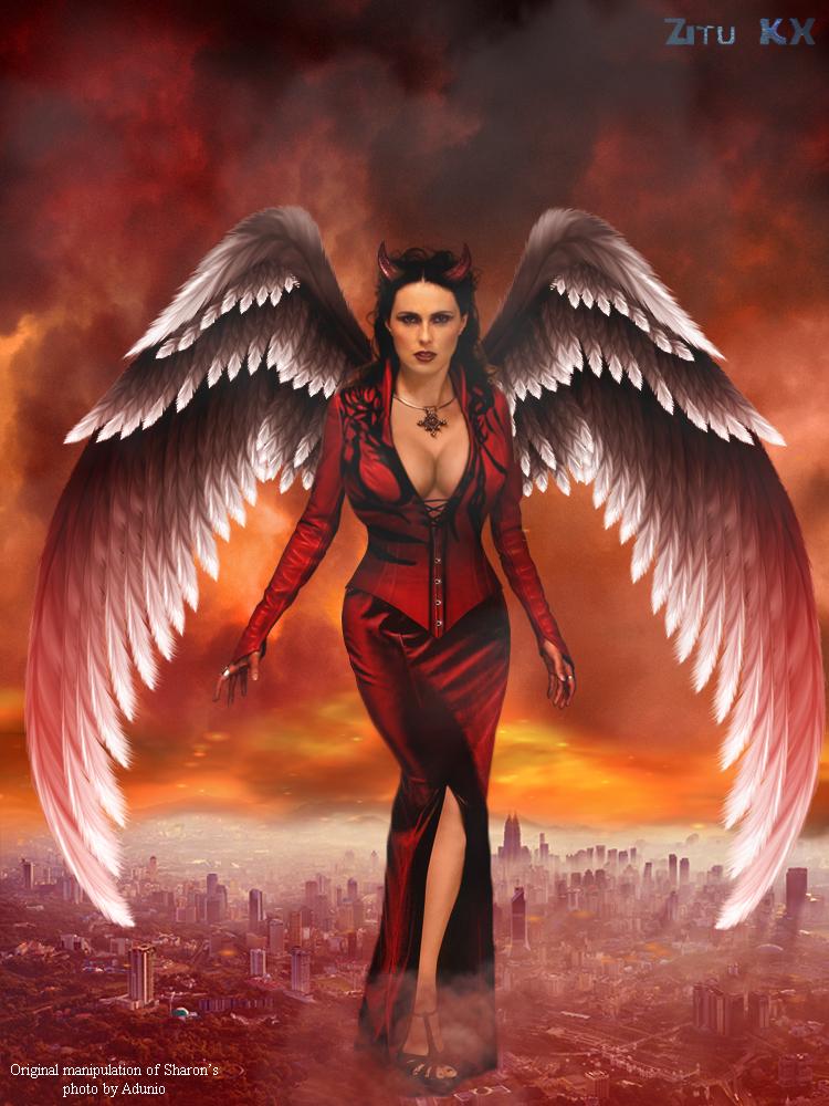 Demonic Goddess Sharon den Adel by ZituKX