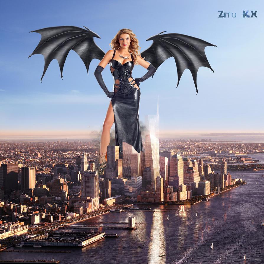 Gothic Angel of Destruction by ZituKX