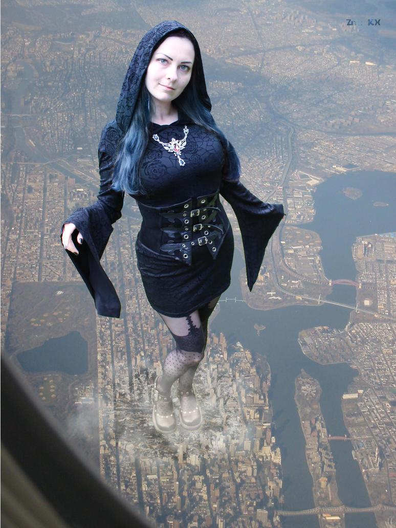 Blue-haired goddess by ZituKX