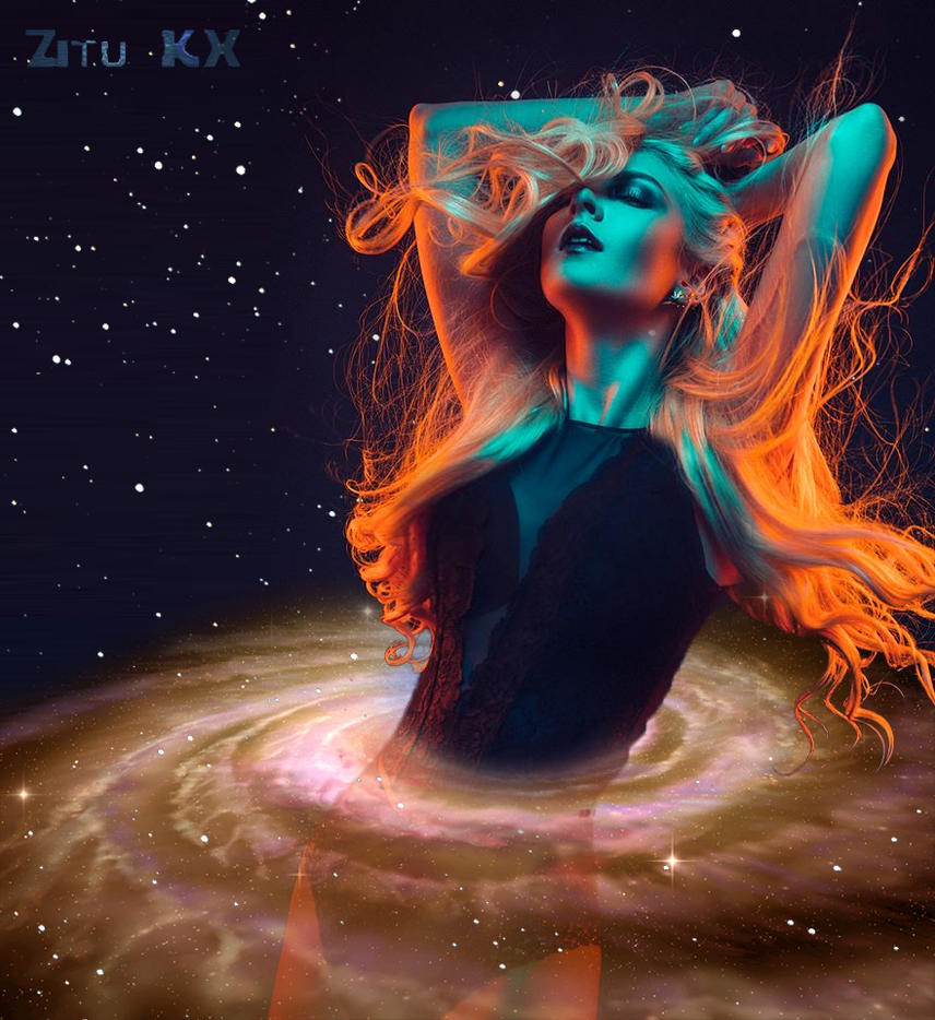Galaxy Bathing by ZituKX