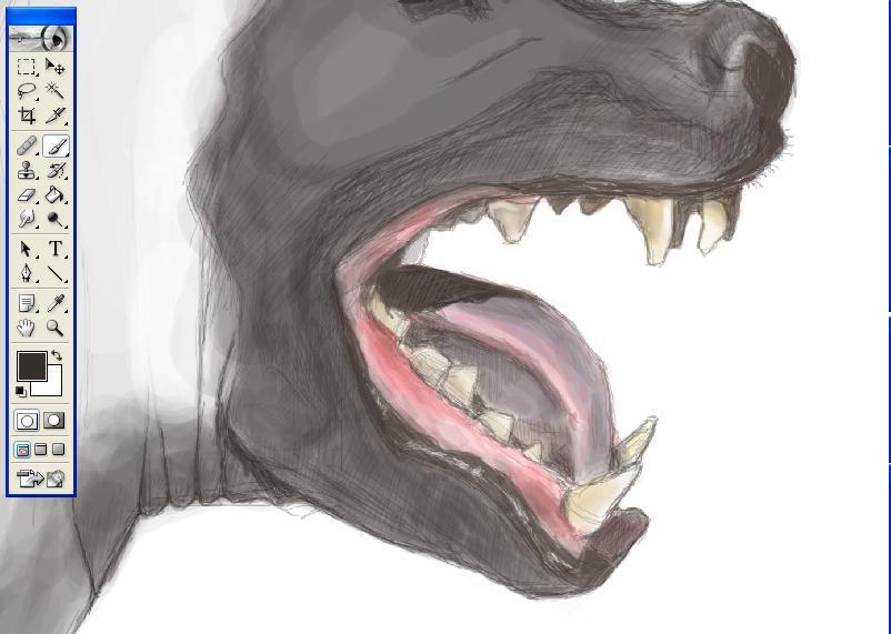 Hyena Development by katiedraws