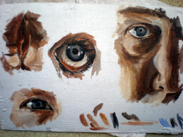 Sample 2: Glue by katiedraws