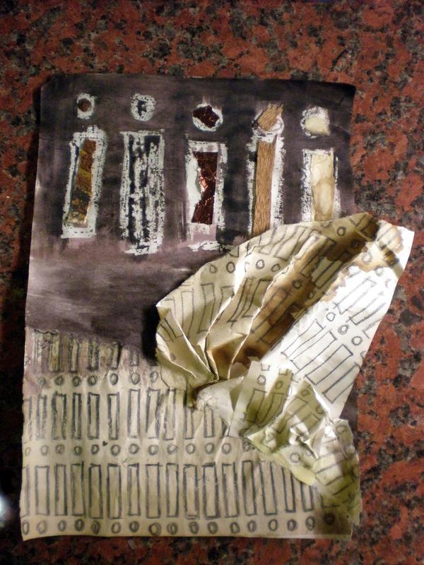 Debris Collage IV by katiedraws