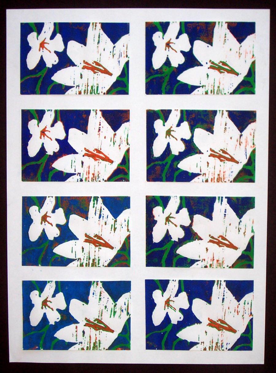 Flower Print by katiedraws