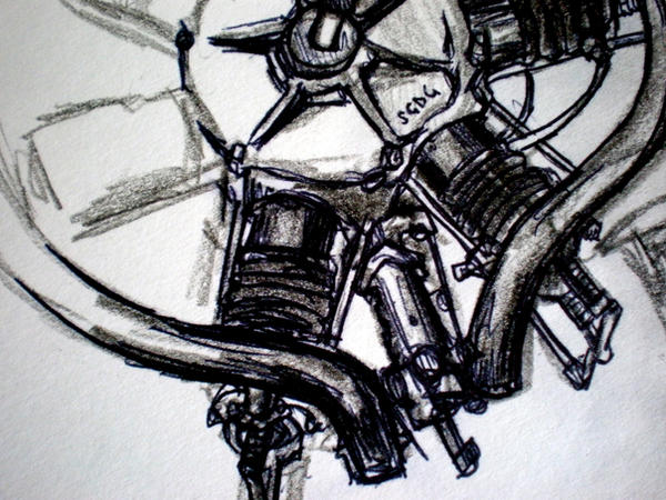 Uni: Motor by katiedraws