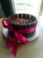 Kitkat Barrel Cake by katiedraws