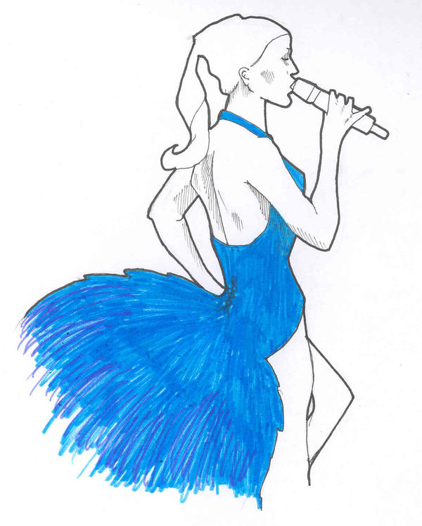 Showgirl 2, Blue by katiedraws