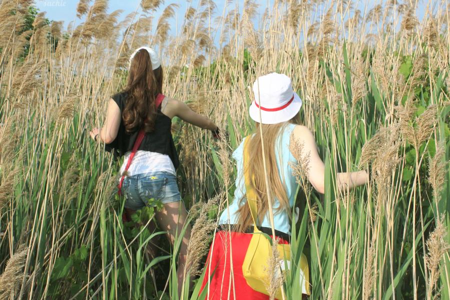 Hilda and Leaf - Tall Grass II by miyurii