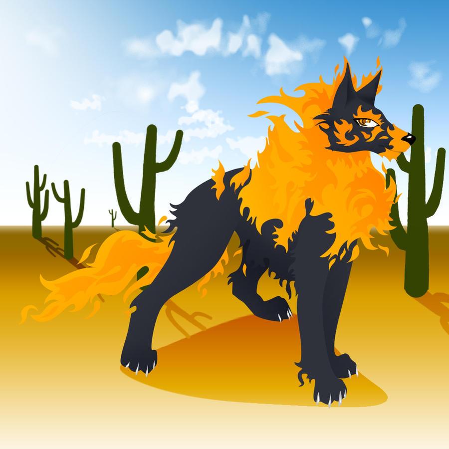 Desert Wolf by Daimondmask