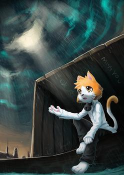 Alone in rain