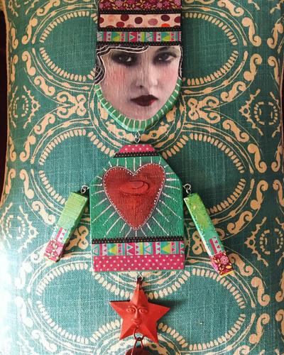 Funky folk #2 heart  by abstractjet