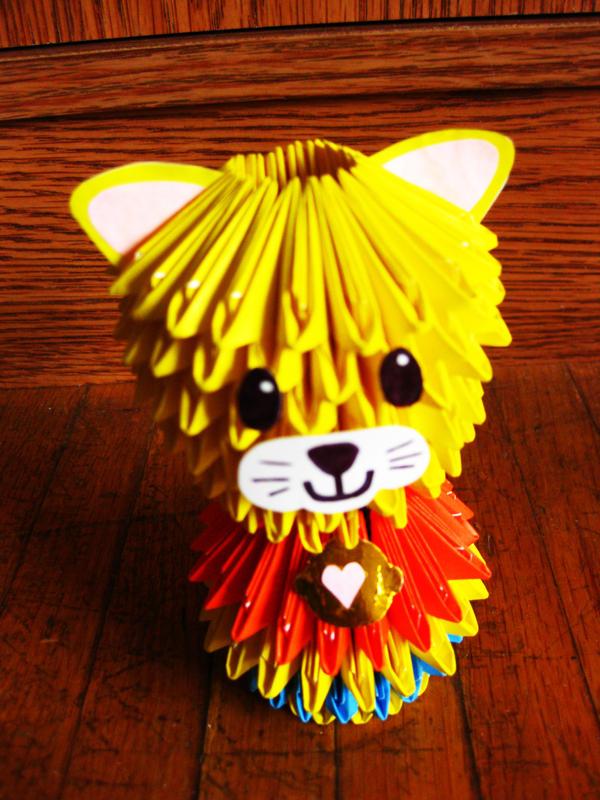 3D Modular Origami Cat By Kasmiria