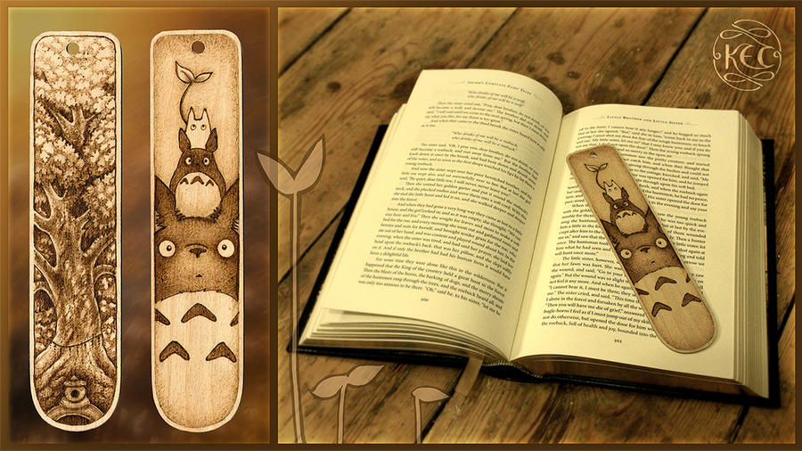 Totoro Bookmark by KettleQuill on DeviantArt