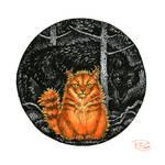Inktober 10 - Crookshanks by KettleQuill