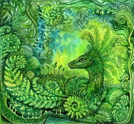 Fern Dragon by KettleQuill