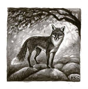 Inktober 1 - Fox