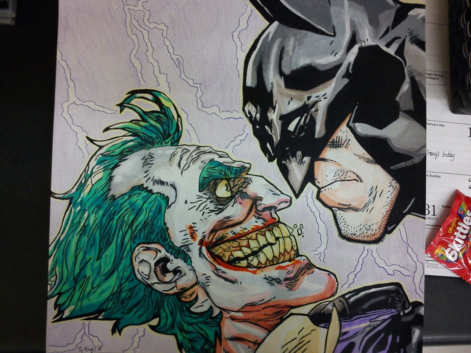 Batman VS Joker Colored Pencil Drawing by tyklug2013 on ...