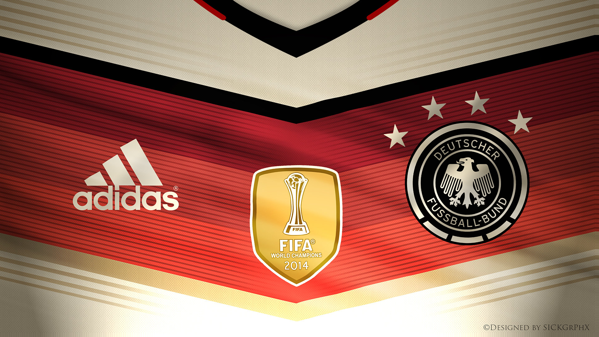 dfb world cup trikot 2014 germany four star by sickgrphx. Black Bedroom Furniture Sets. Home Design Ideas