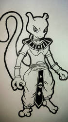 Mewtwo, God of Destruction WIP by carly-mcgregor