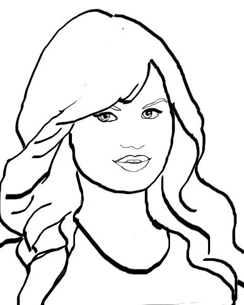 debby ryan line art by fosterthepeople32 on DeviantArt