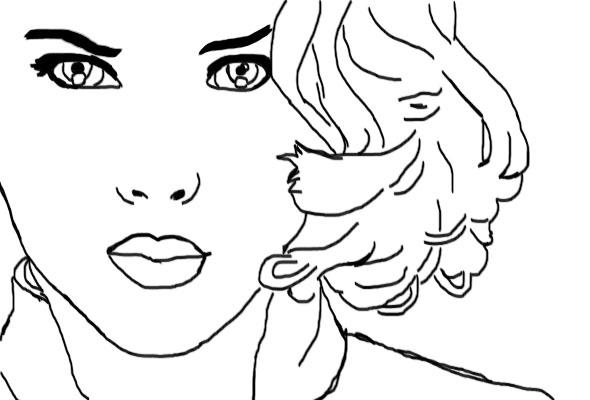 Line Art Person : Black widow line art by fosterthepeople on deviantart